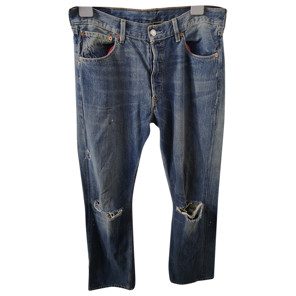 Levi's \N Blue Cotton Jeans for Men 34 US