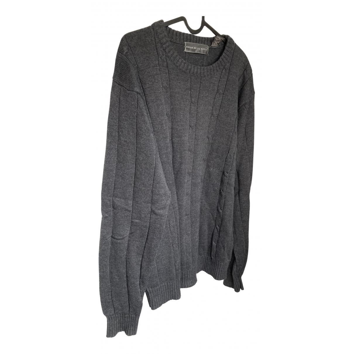 Oscar De La Renta \N Pullover.Westen.Sweatshirts  in  Anthrazit Baumwolle