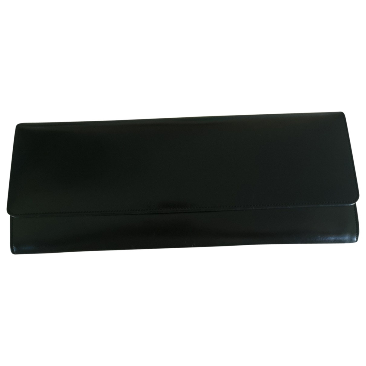 - Pochette   pour femme en cuir - noir