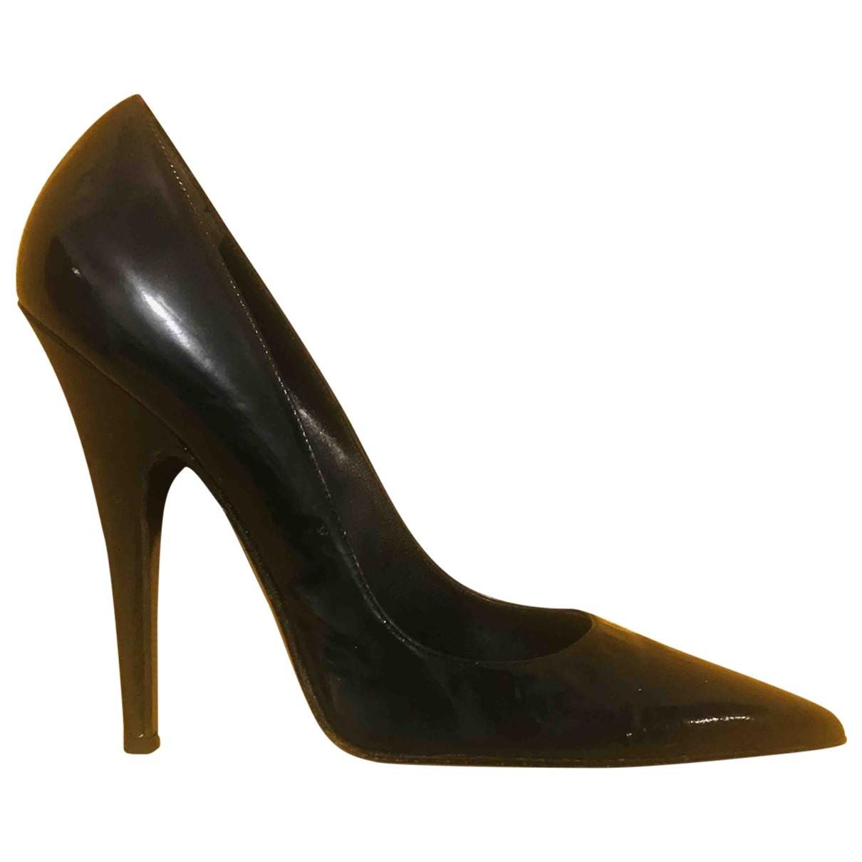 Anna Molinari \N Black Patent leather Heels for Women 40 EU