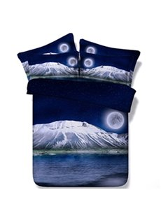 Charming Snow Peak Print 5-Piece Comforter Sets