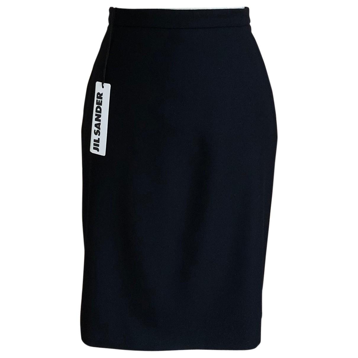 Jil Sander N Navy Wool skirt for Women 40 FR
