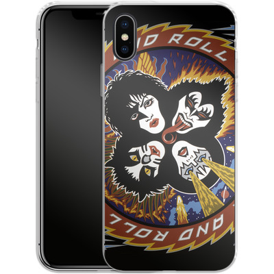 Apple iPhone X Silikon Handyhuelle - Rock And Roll Over von KISS®