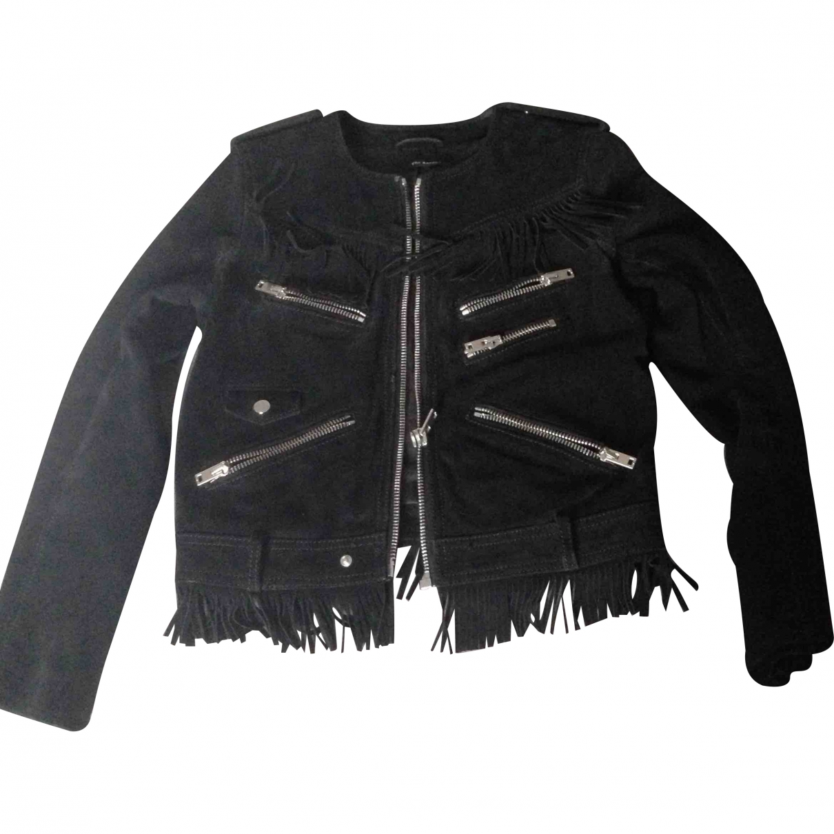 The Kooples \N Black Leather coat for Women S International
