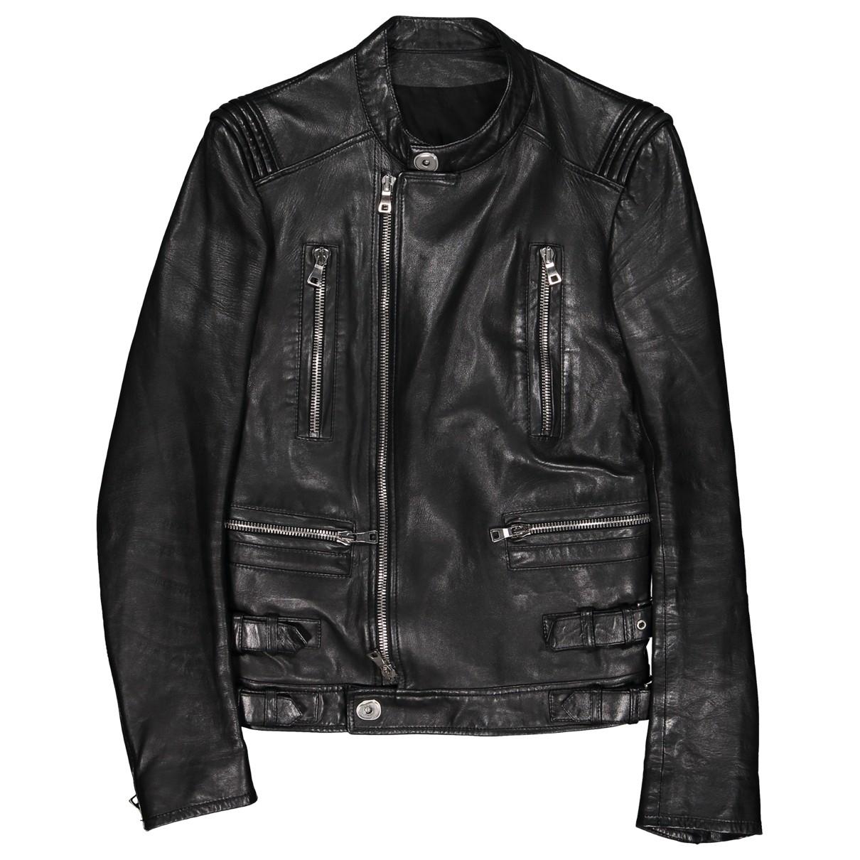 Balmain \N Black Leather jacket  for Men 42 FR