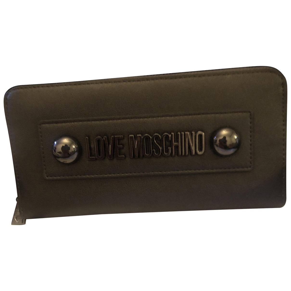 Moschino Love - Portefeuille   pour femme en cuir - argente