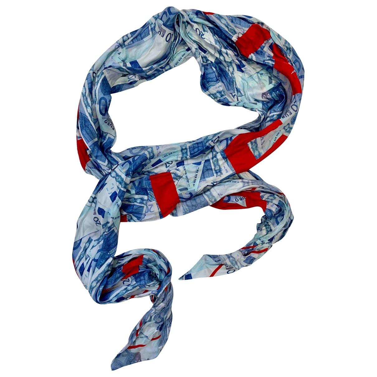 Balenciaga \N Schal in  Blau Seide