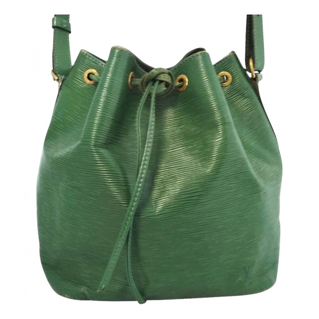 Louis Vuitton Noé Green Leather handbag for Women N