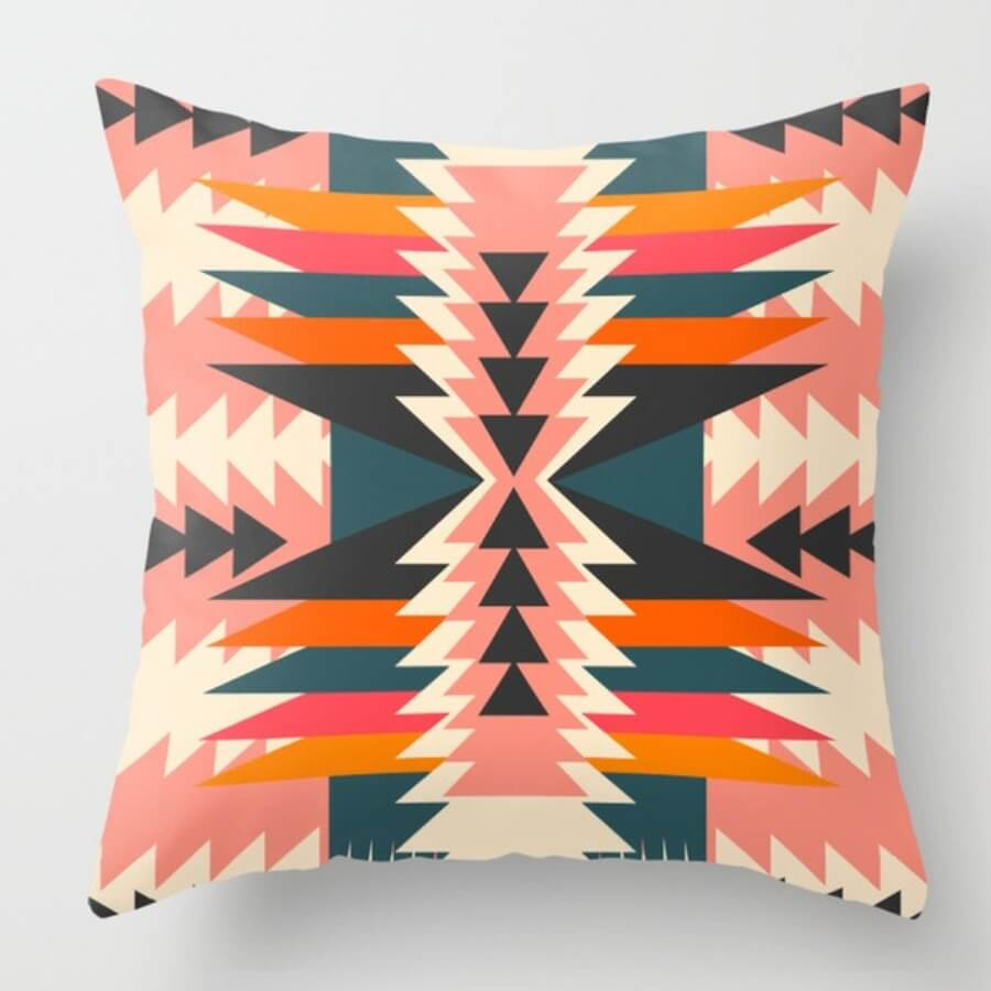 LW Lovely Chic Print Multicolor Decorative Pillow Case