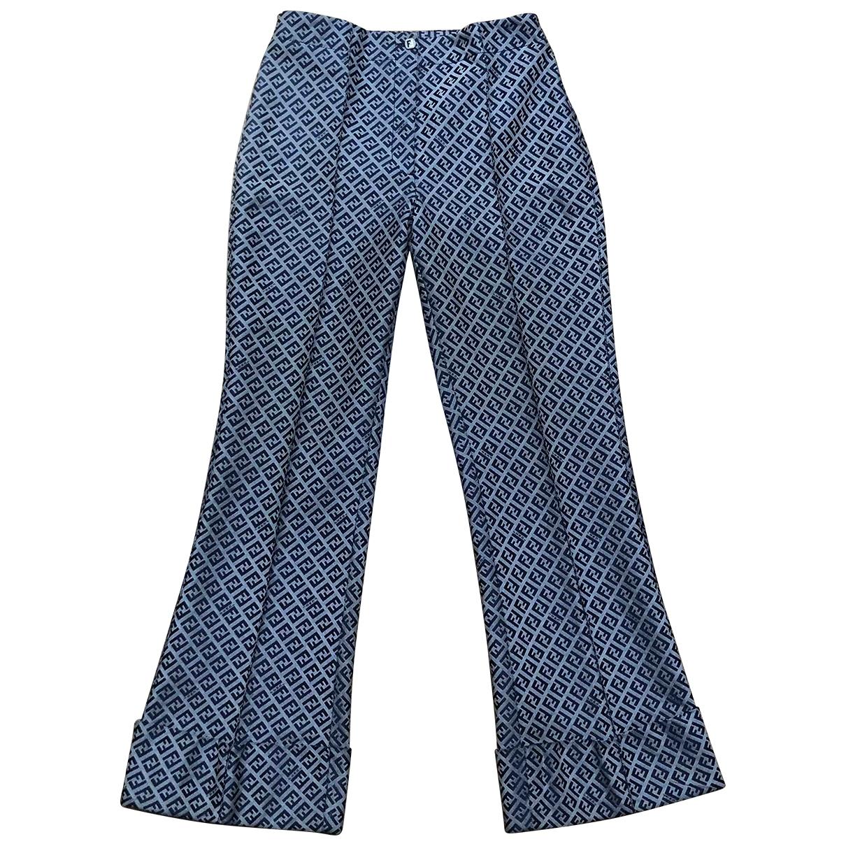Fendi \N Grey Trousers for Women 40 IT