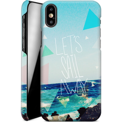 Apple iPhone X Smartphone Huelle - Lets Sail Away von Leah Flores