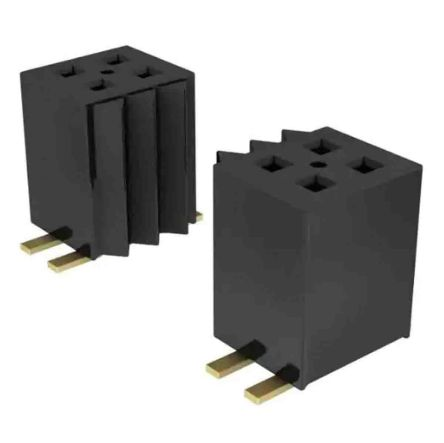 Samtec , FLE, FLE-110 1.27mm Pitch 10 Way 2 Row Vertical PCB Socket, Surface Mount, Press-In Termination (900)