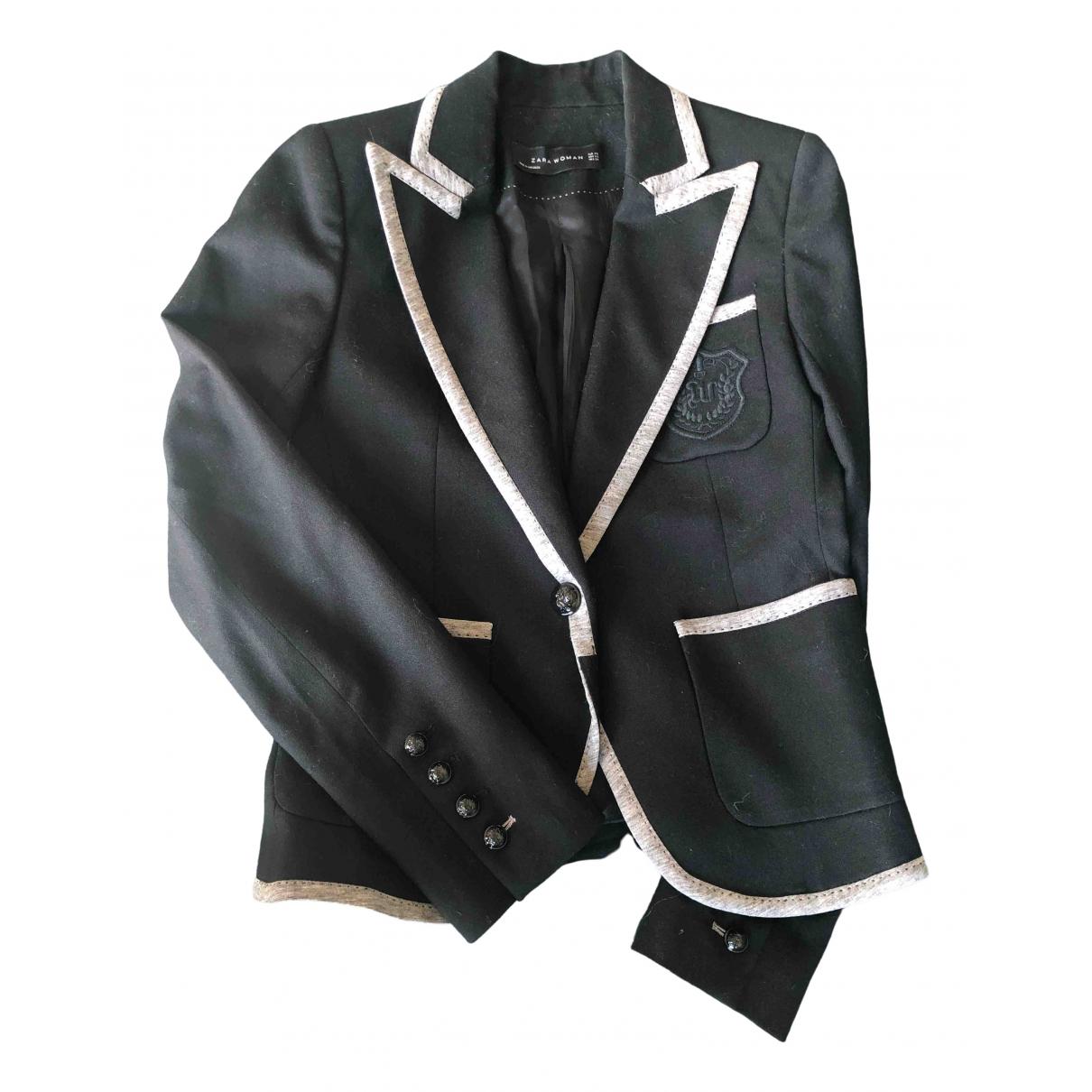 Zara \N Black Wool jacket for Women XS International