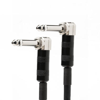 3Ft Premier Series 1/4inch (TS or Mono Phono) Right Angle M/M 16AWG Audio Cable - PrimeCables®