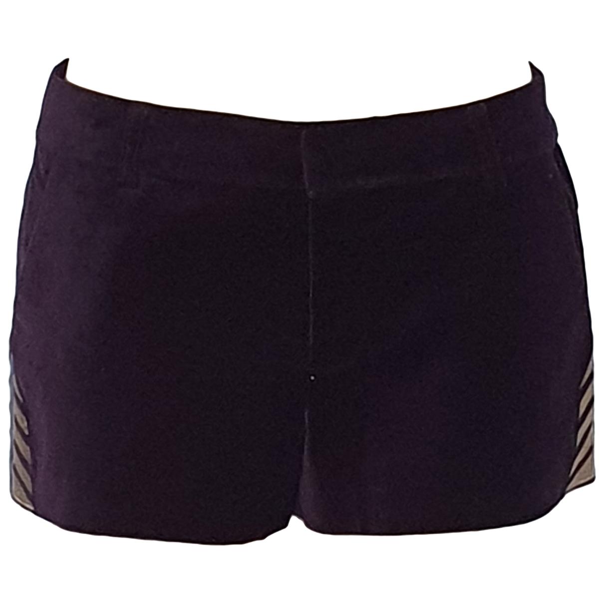 Zadig & Voltaire \N Purple Cotton - elasthane Shorts for Women 38 FR