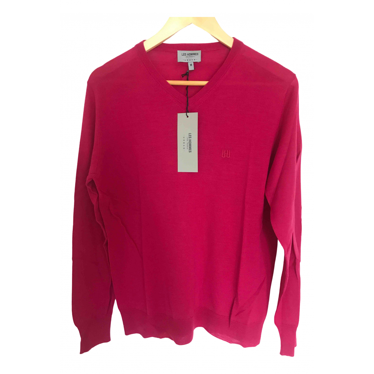 Les Hommes \N Pullover.Westen.Sweatshirts  in  Rosa Wolle