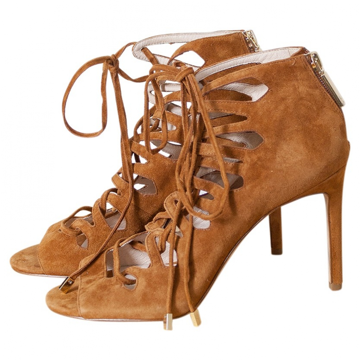 Non Signé / Unsigned \N Camel Leather Heels for Women 10 US