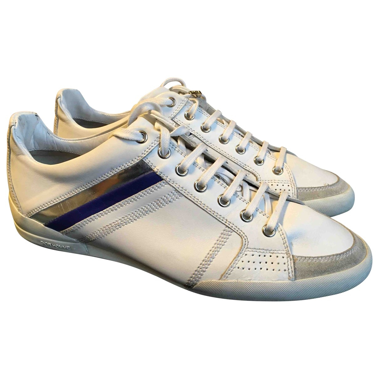 Dior Homme B18 White Leather Trainers for Men 41 EU