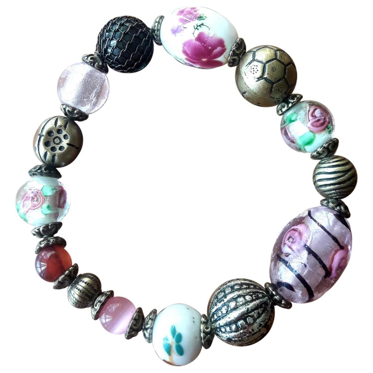 - Bracelet   pour femme en verre - rose