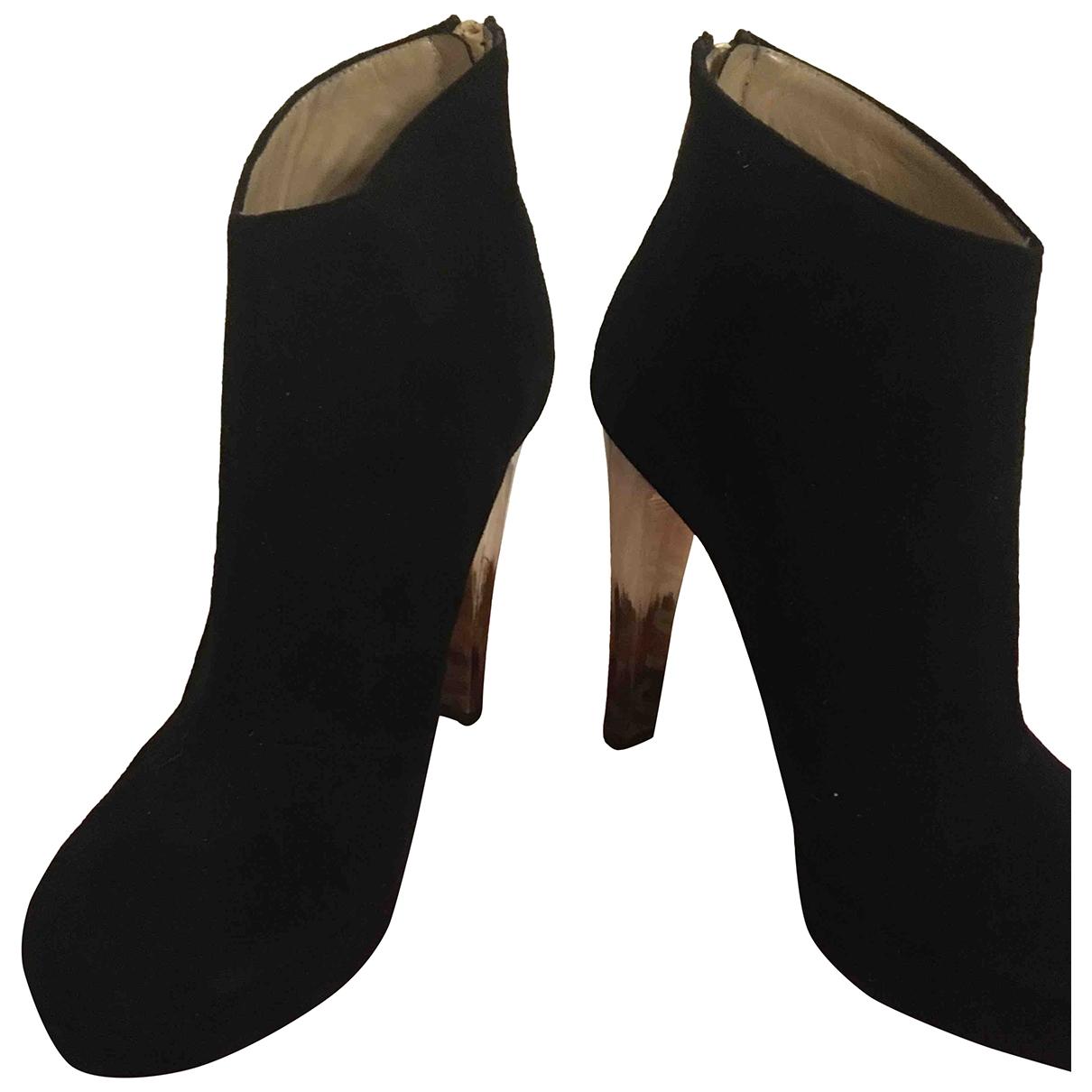 Chiara Ferragni - Boots   pour femme en cuir - noir