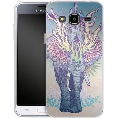 Samsung Galaxy J3 (2016) Silikon Handyhuelle - Spirit Elephant von Mat Miller