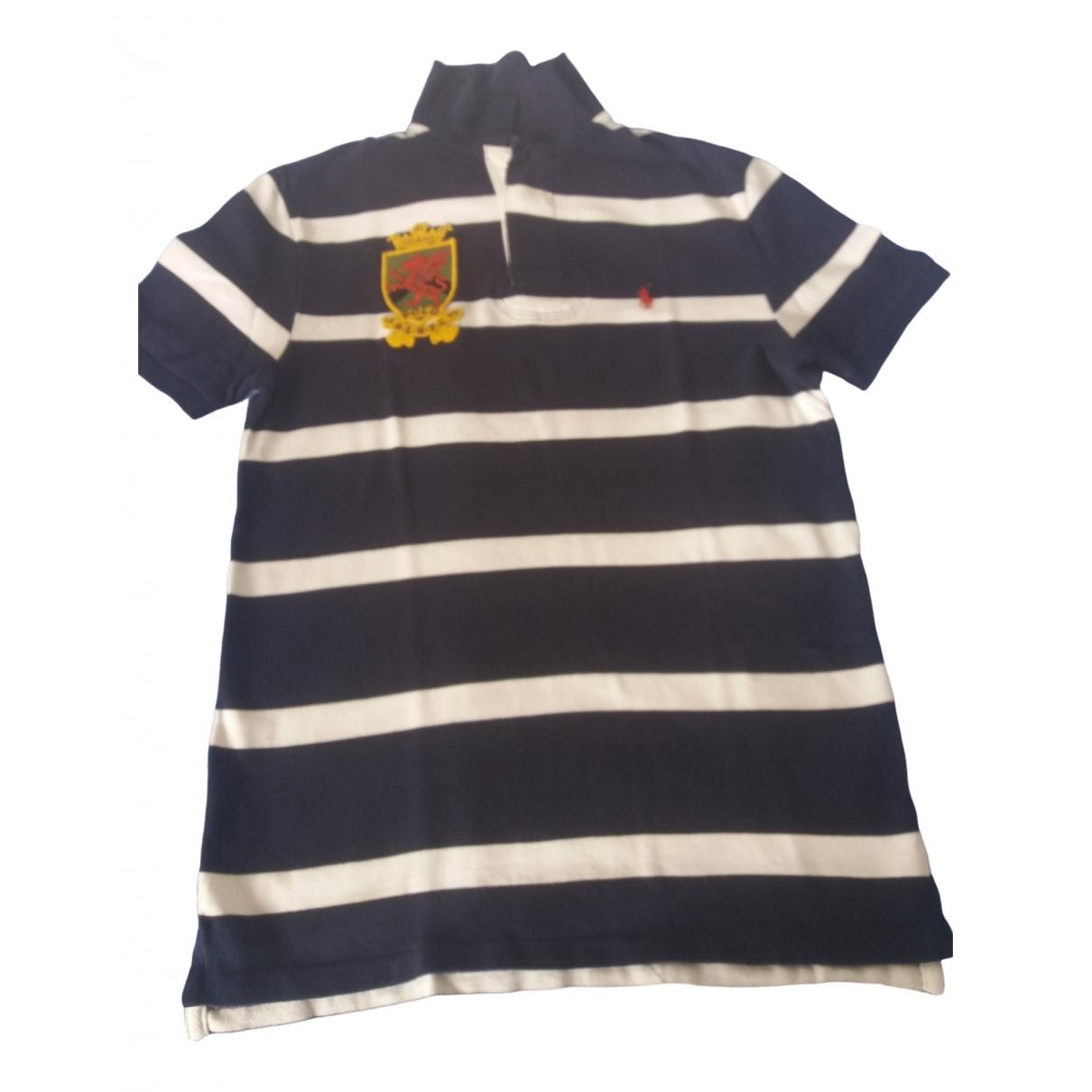 Polo Ralph Lauren Polo cintre manches courtes Poloshirts in  Blau Baumwolle