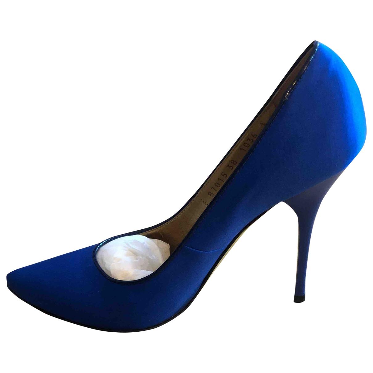 Roberto Cavalli \N Pumps in  Blau Leinen