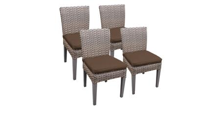Monterey Collection MONTEREY-TKC290b-ADC-2x-C-COCOA 4 Side Chairs - Beige and Cocoa