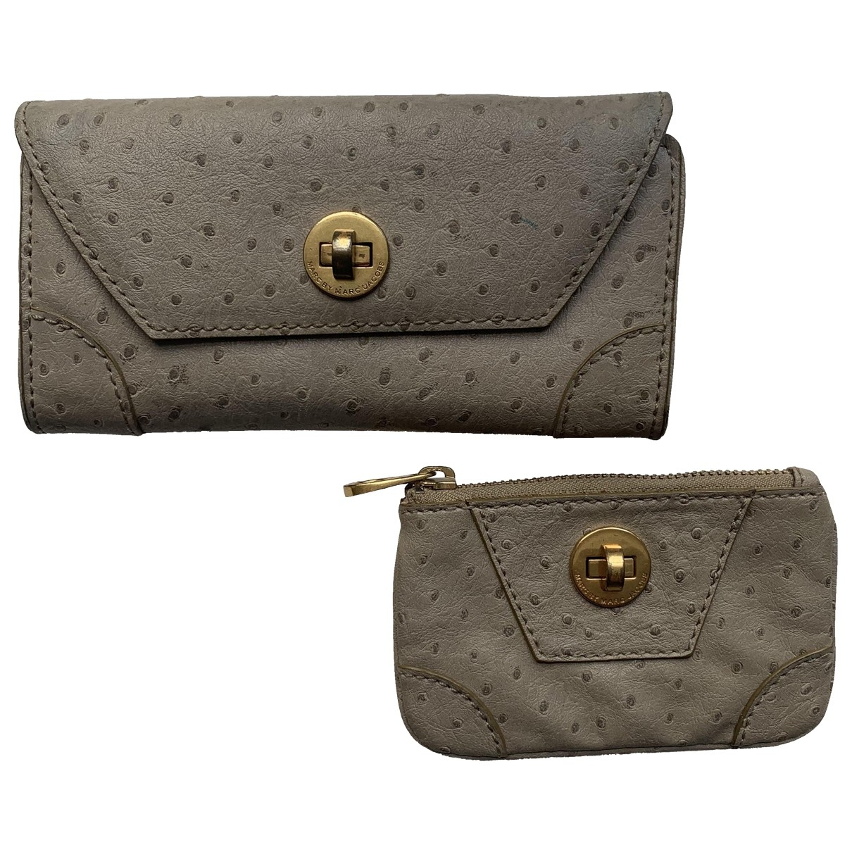 Marc By Marc Jacobs \N Beige Ostrich Purses, wallet & cases for Women \N