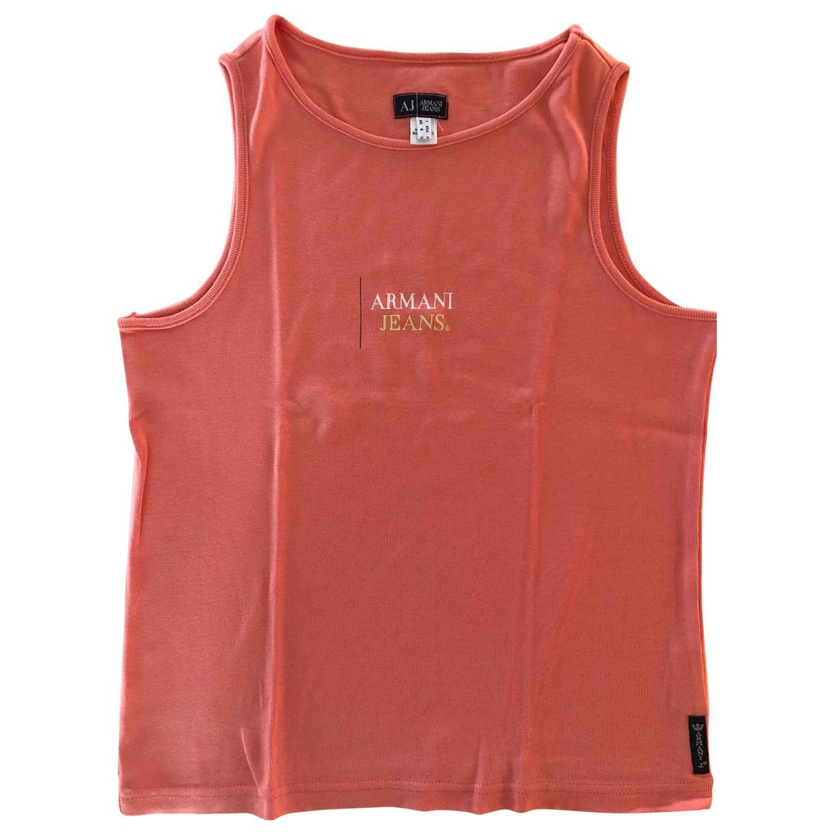 Armani Jeans N Orange Cotton  top for Women 40 IT