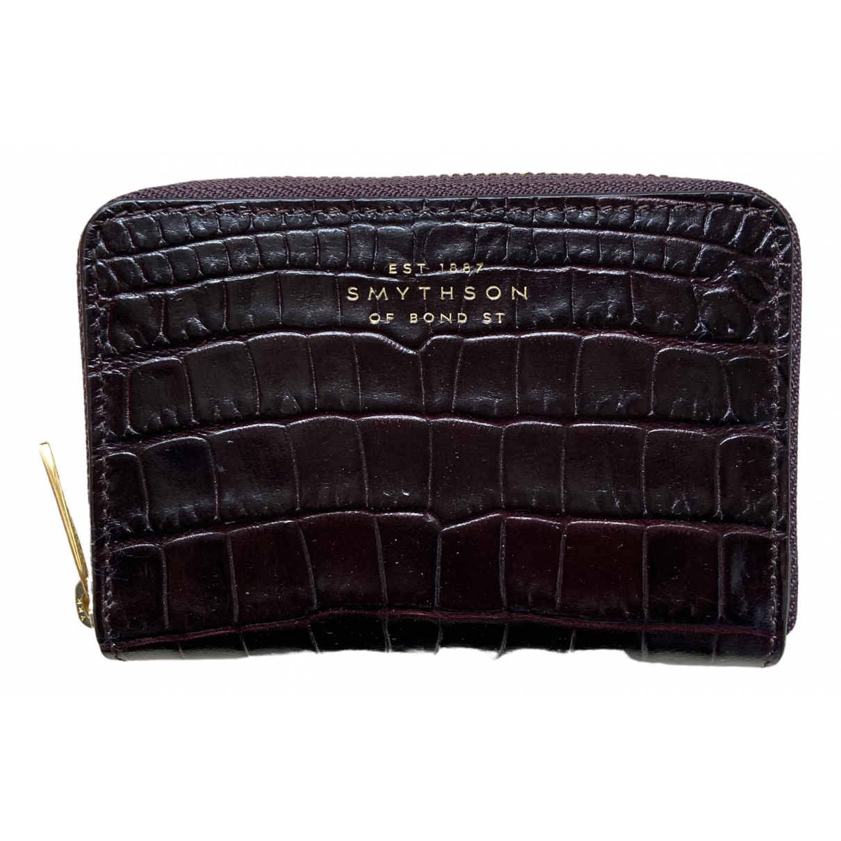 Smythson \N Brown Leather wallet for Women \N