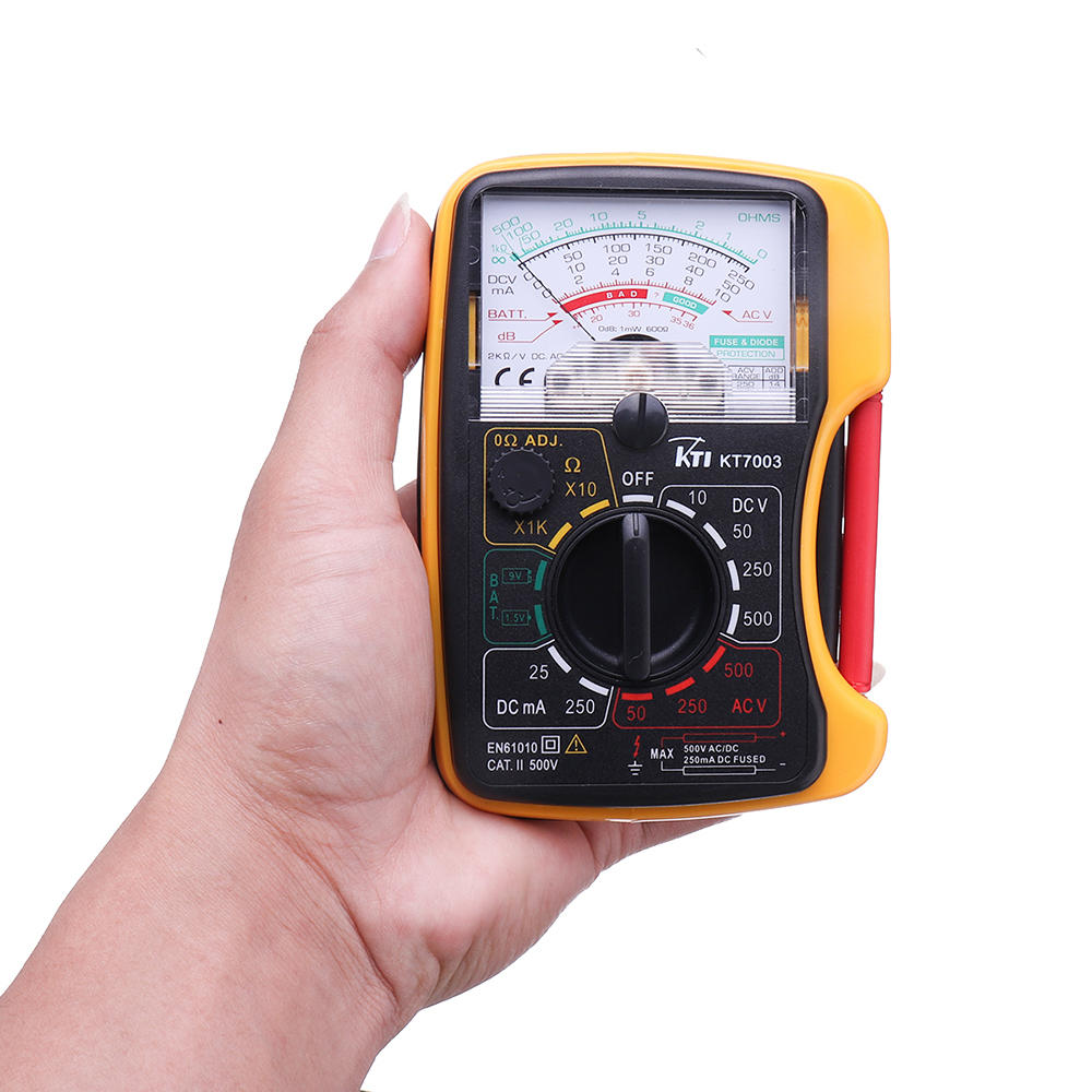 KTI KT7003 Mini Analog Multimeter Original Authentic Overload Protection Voltage Current Battery Test