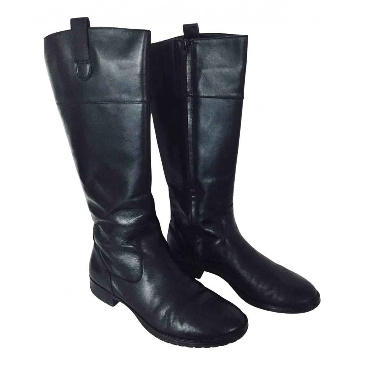 Lauren Ralph Lauren N Black Leather Boots for Women 8 US