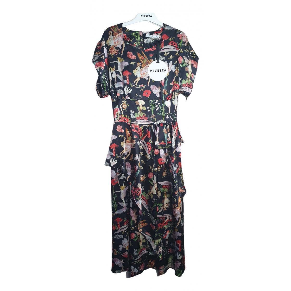 Vivetta - Robe   pour femme en soie - noir