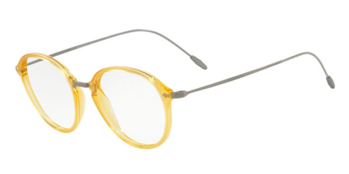Giorgio Armani AR7148 5636 Mens Glasses Yellow Size 49 - Free Lenses - HSA/FSA Insurance - Blue Light Block Available