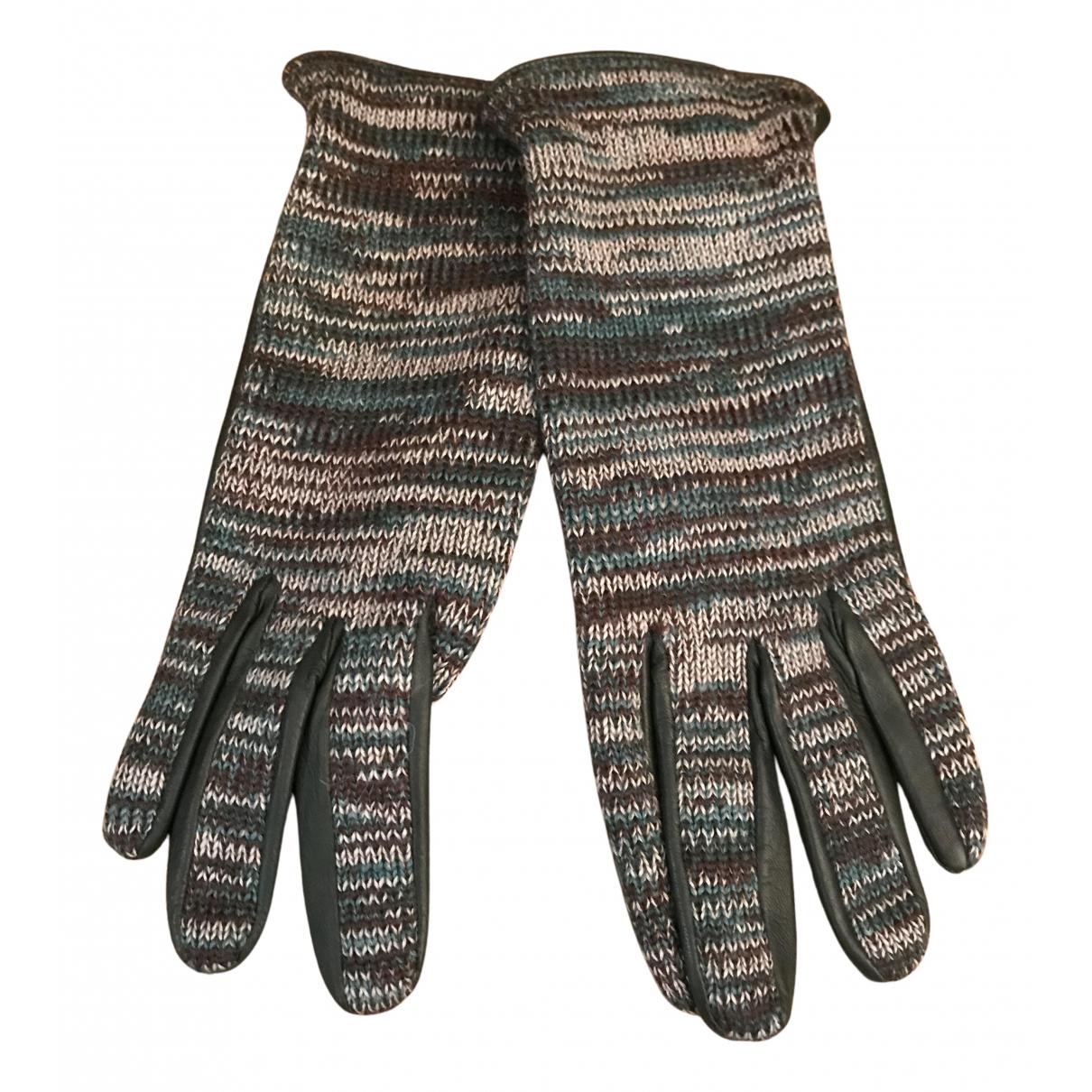 M Missoni - Petite maroquinerie   pour femme en laine - vert