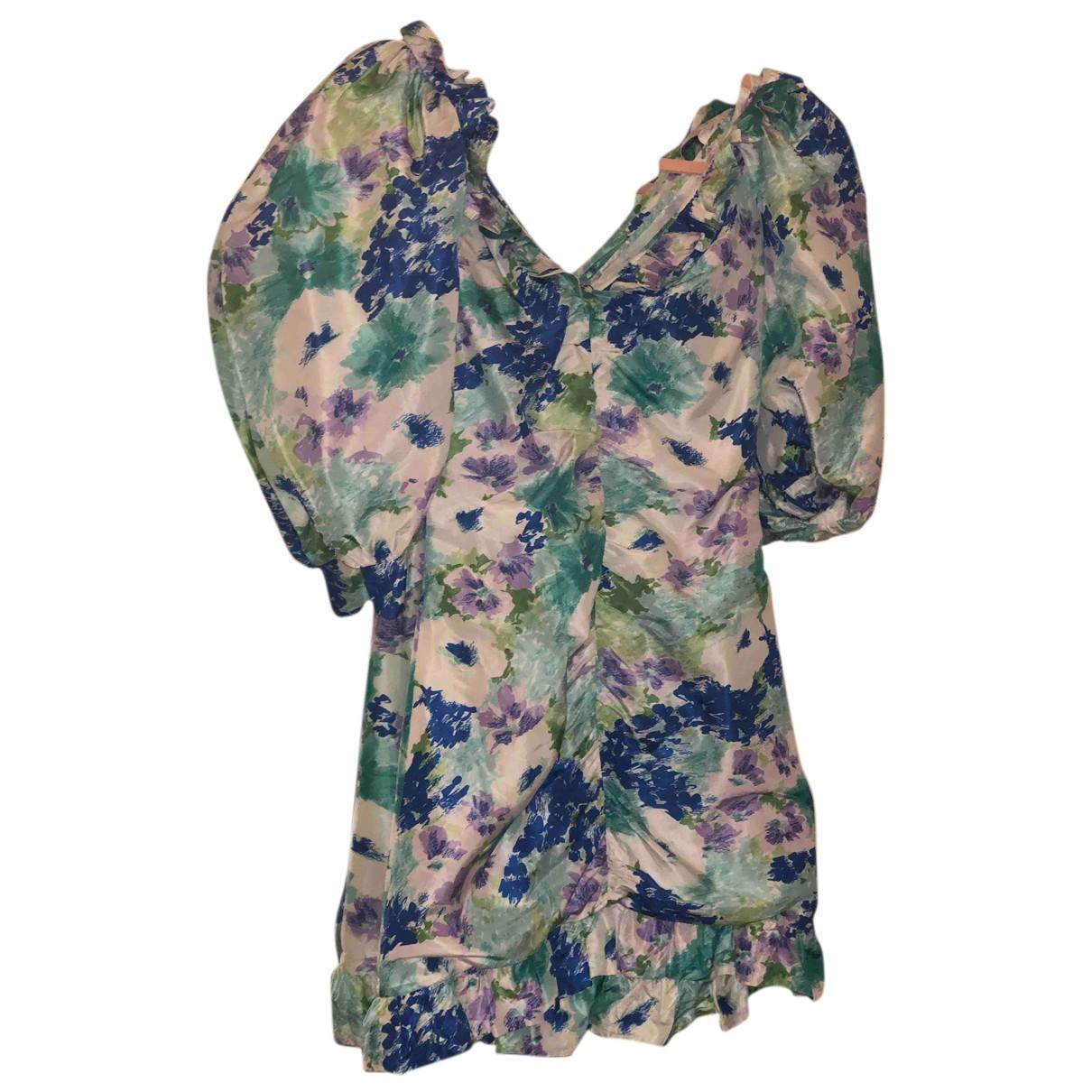 Alessandra Rich \N Kleid in  Bunt Seide