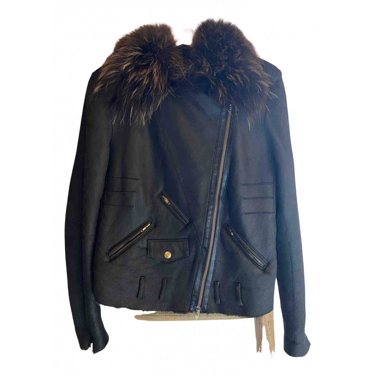 Sonia Rykiel - Manteau   pour femme en cuir - marron