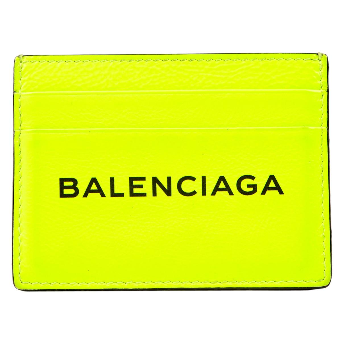 Balenciaga - Petite maroquinerie   pour homme en cuir - jaune