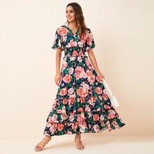 Vestidos Capas relajadas Floral Multicolor Bohemio