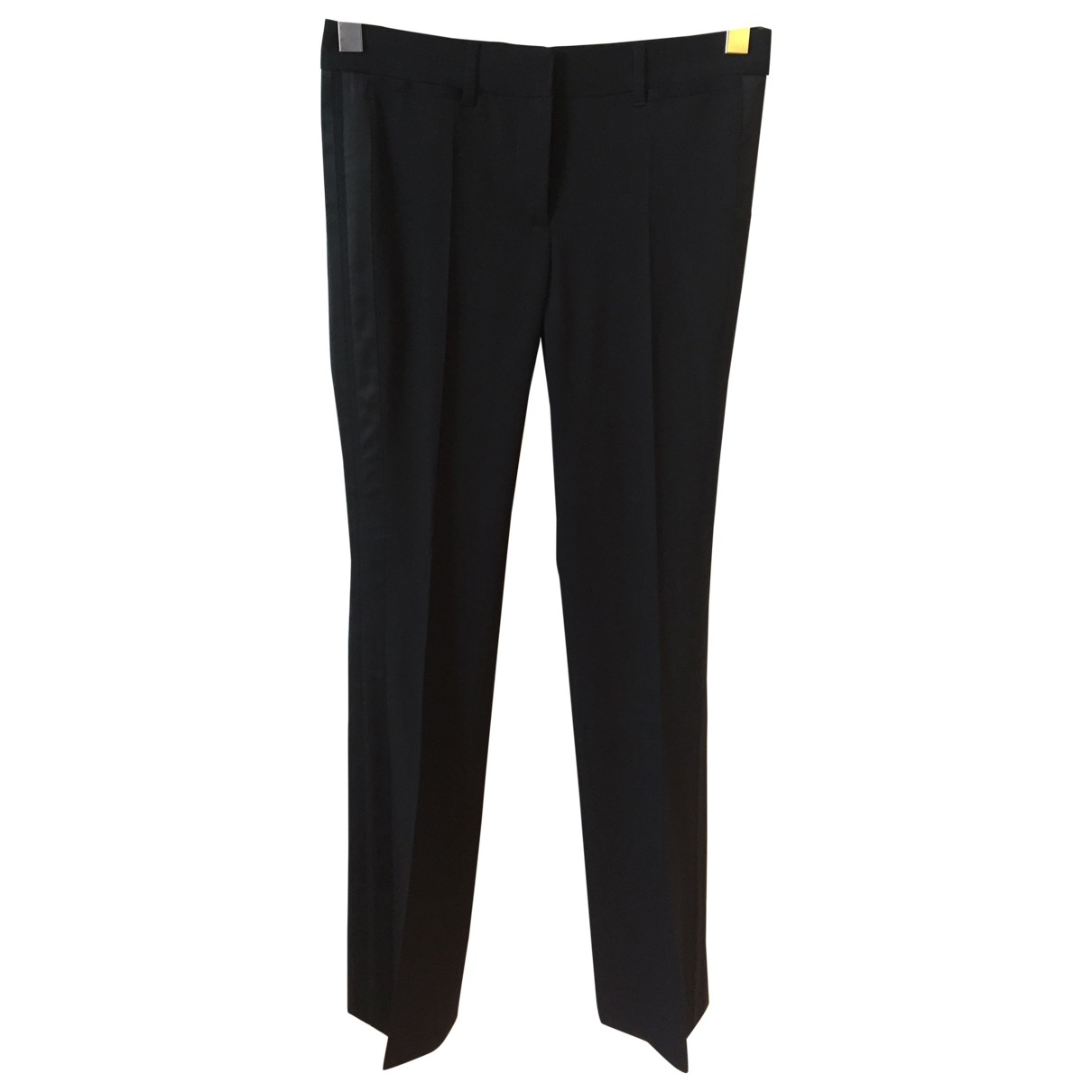 Roberto Cavalli \N Black Wool Trousers for Women 40 IT