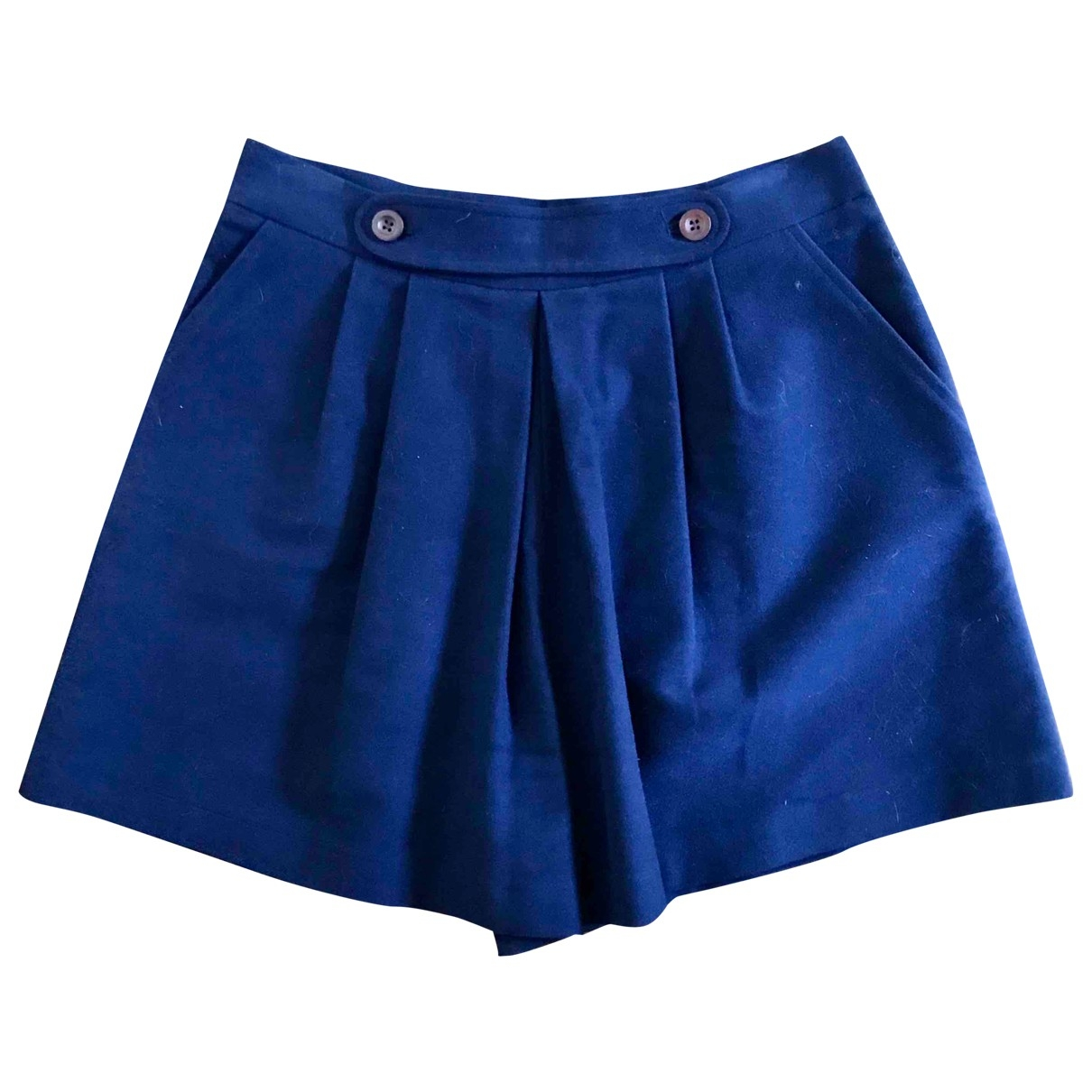 Non Signe / Unsigned \N Shorts in  Marine Baumwolle