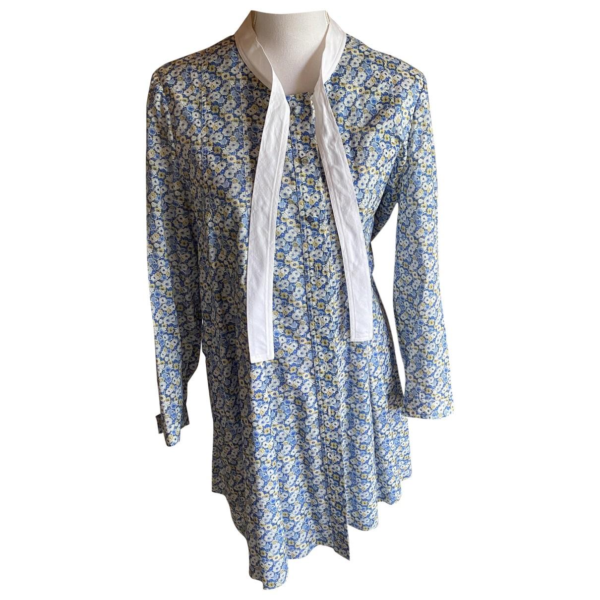 Saint Laurent \N Blue Cotton dress for Women 46 FR