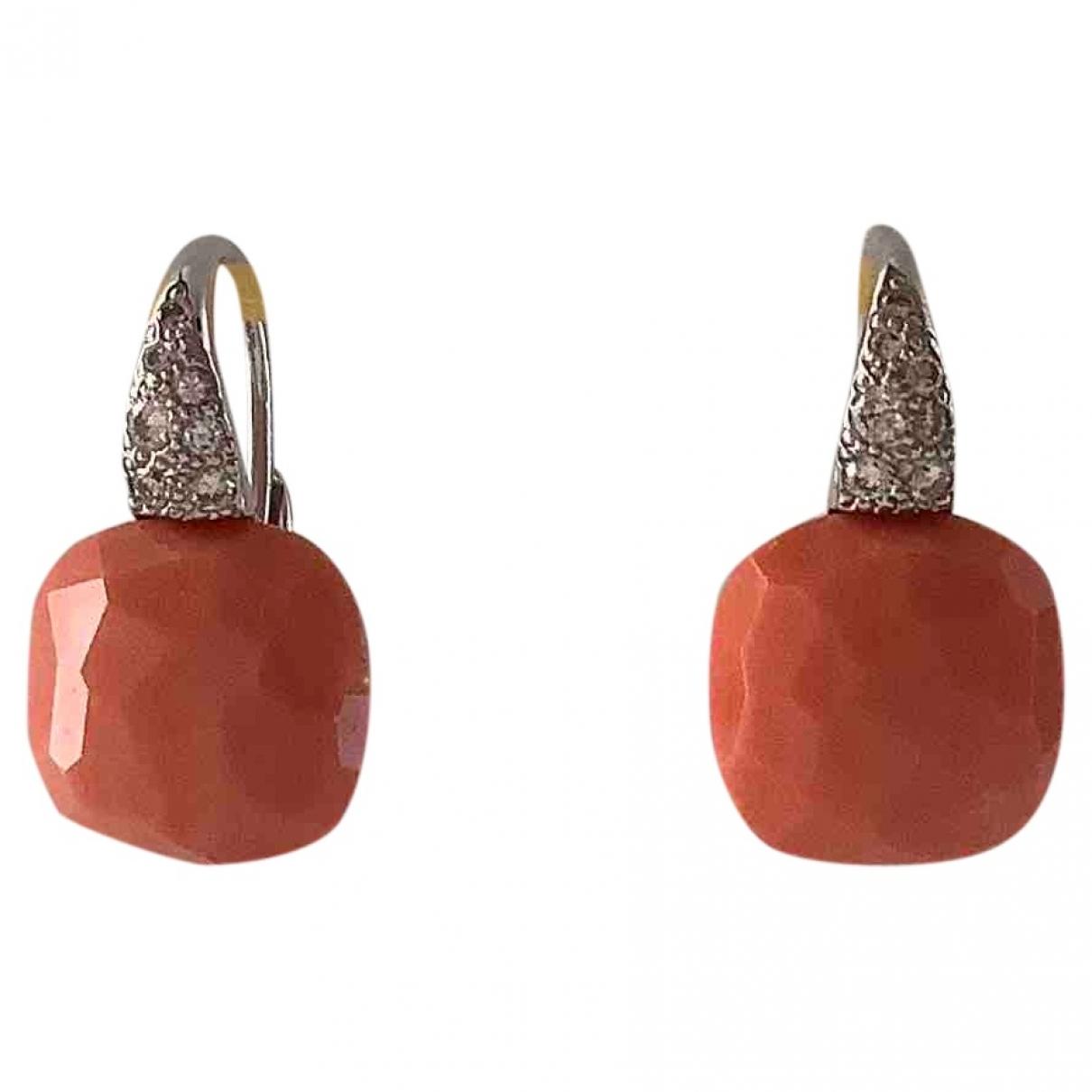 Pomellato - Boucles doreilles Capri pour femme en or blanc - orange