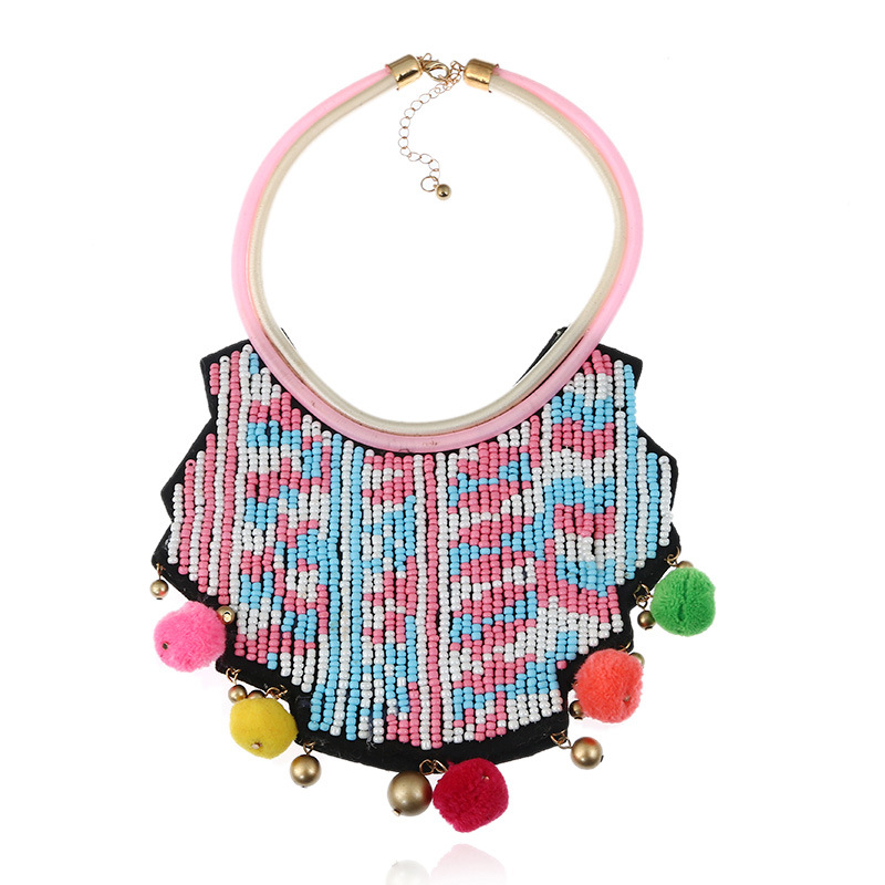 Exaggerated Colorful Tassel Necklace for Women and Girls