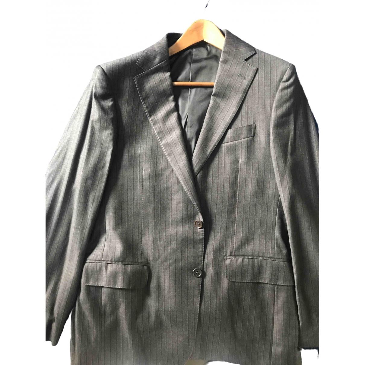 Salvatore Ferragamo - Costumes   pour homme en laine - gris