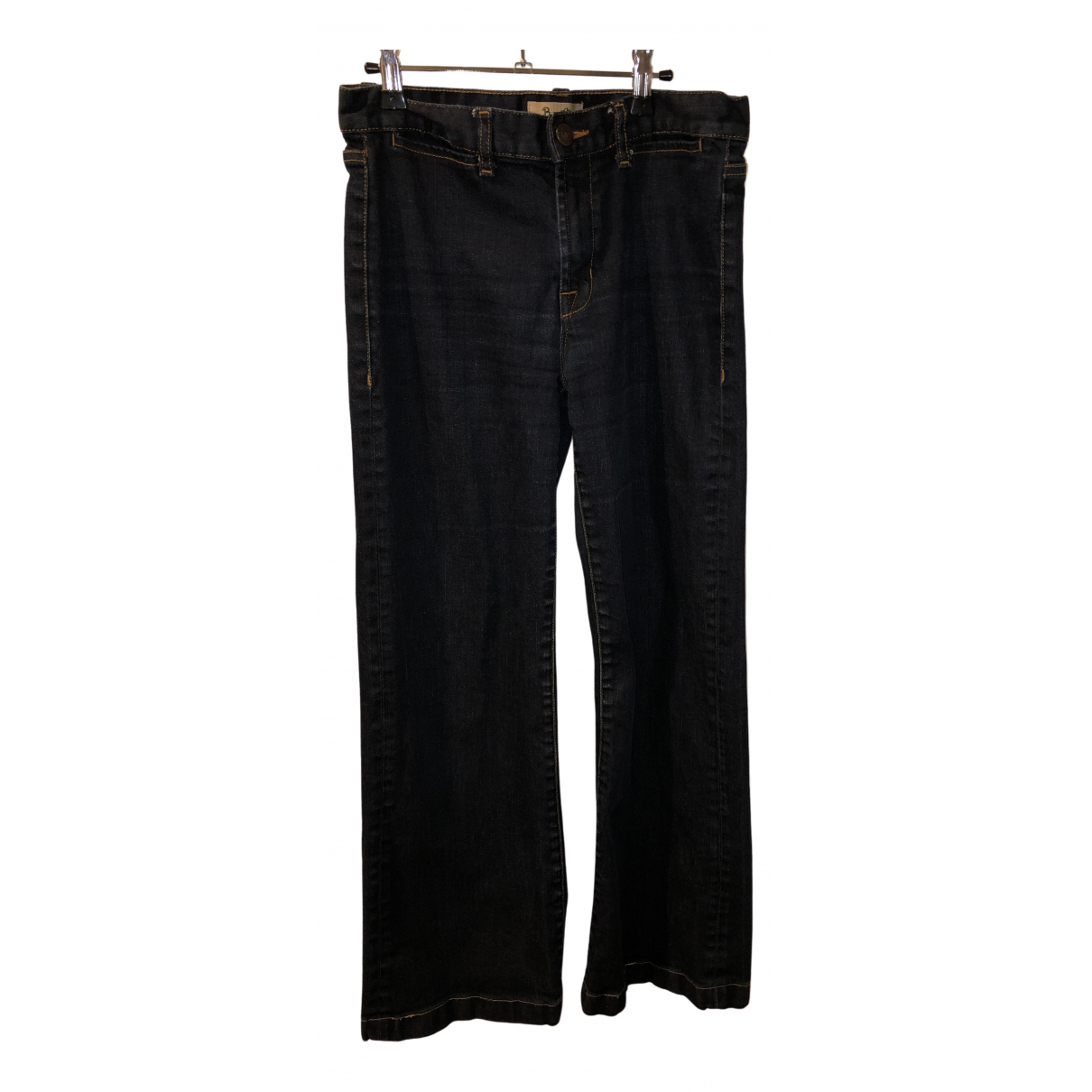 Bel Air N Blue Cotton - elasthane Jeans for Women 36 FR