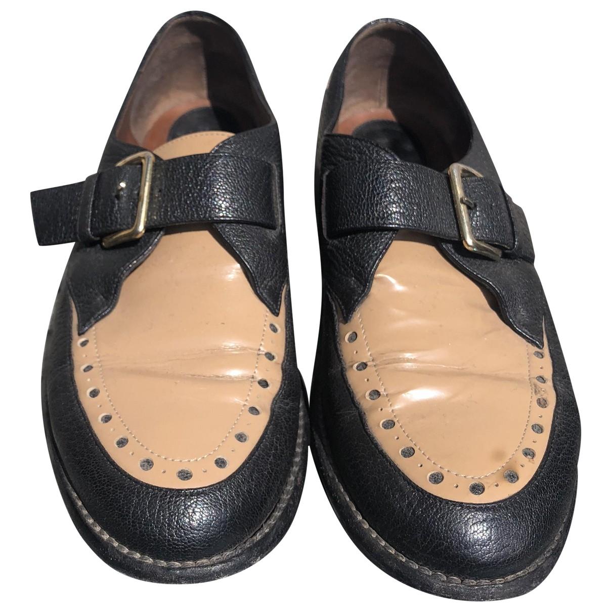 Marni \N Black Leather Lace ups for Women 36.5 EU