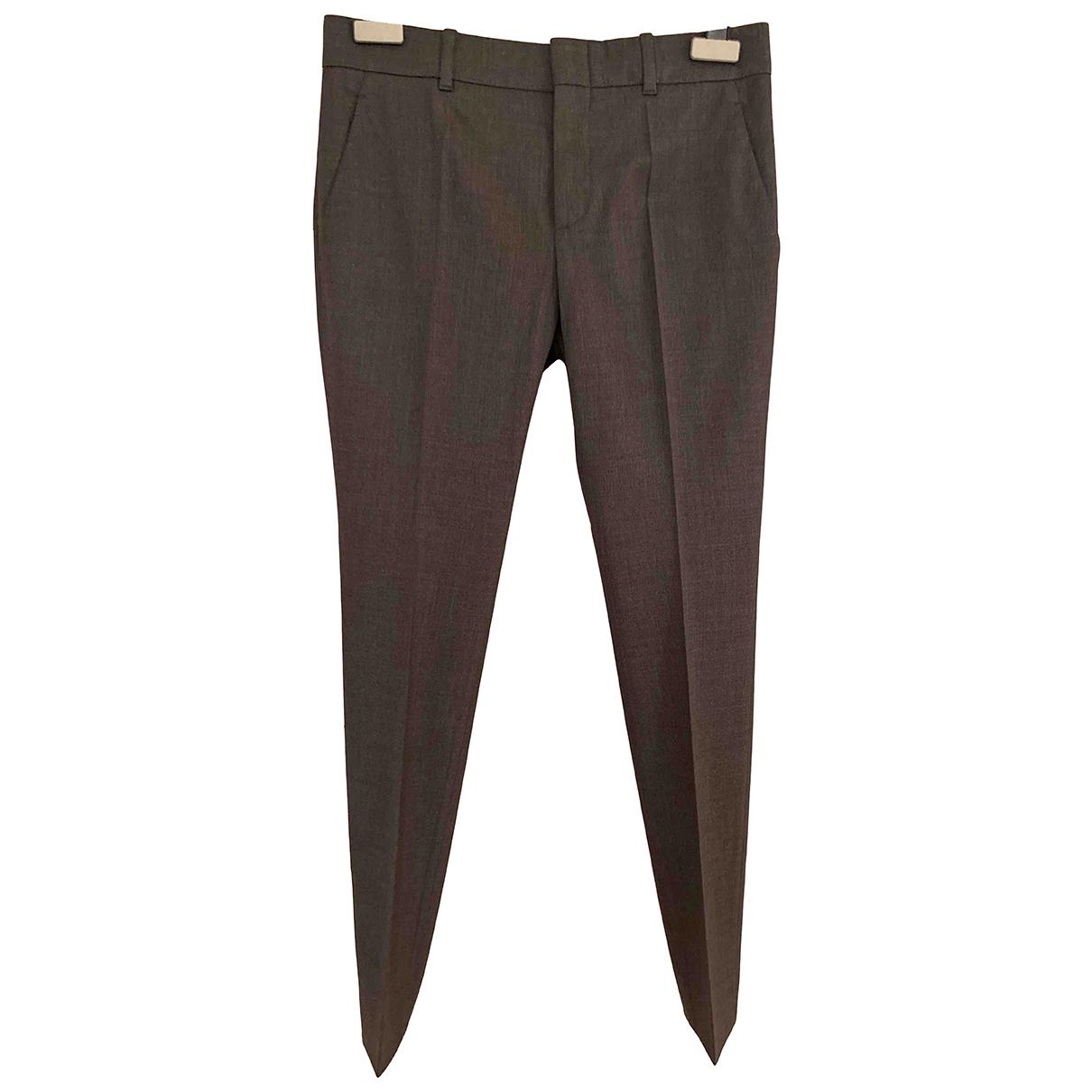 Gucci \N Grey Wool Trousers for Women 36 IT