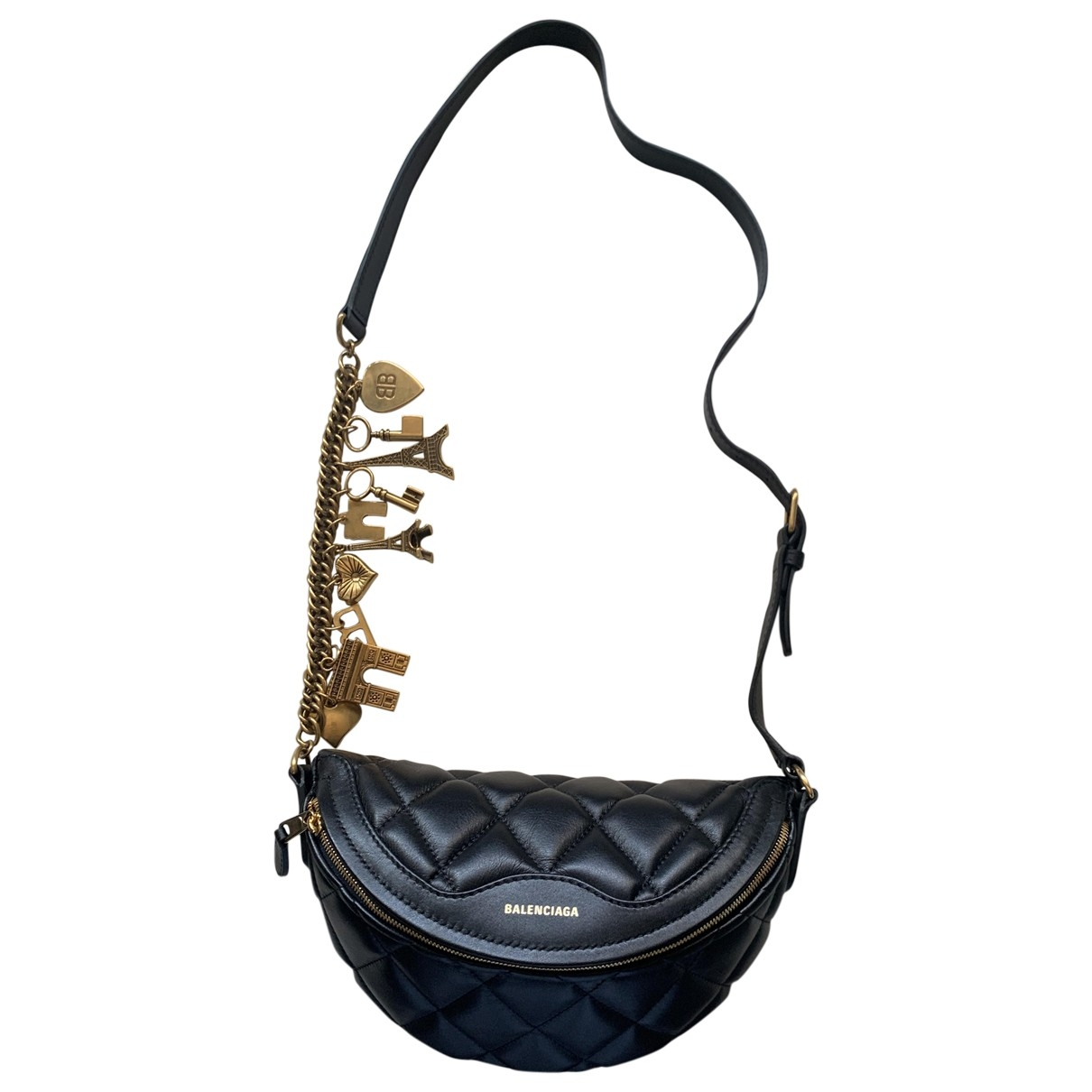 Balenciaga - Sac a main Souvenir XS pour femme en cuir - noir